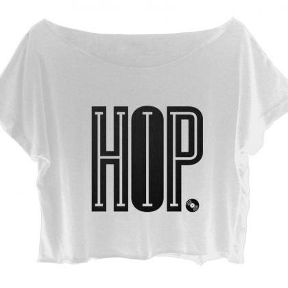 Hip Hop Shirt Women Crop Top Music ..