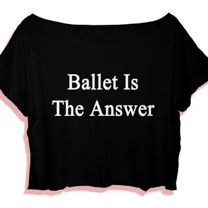 Funny Quotes Women's Crop Top Balle..