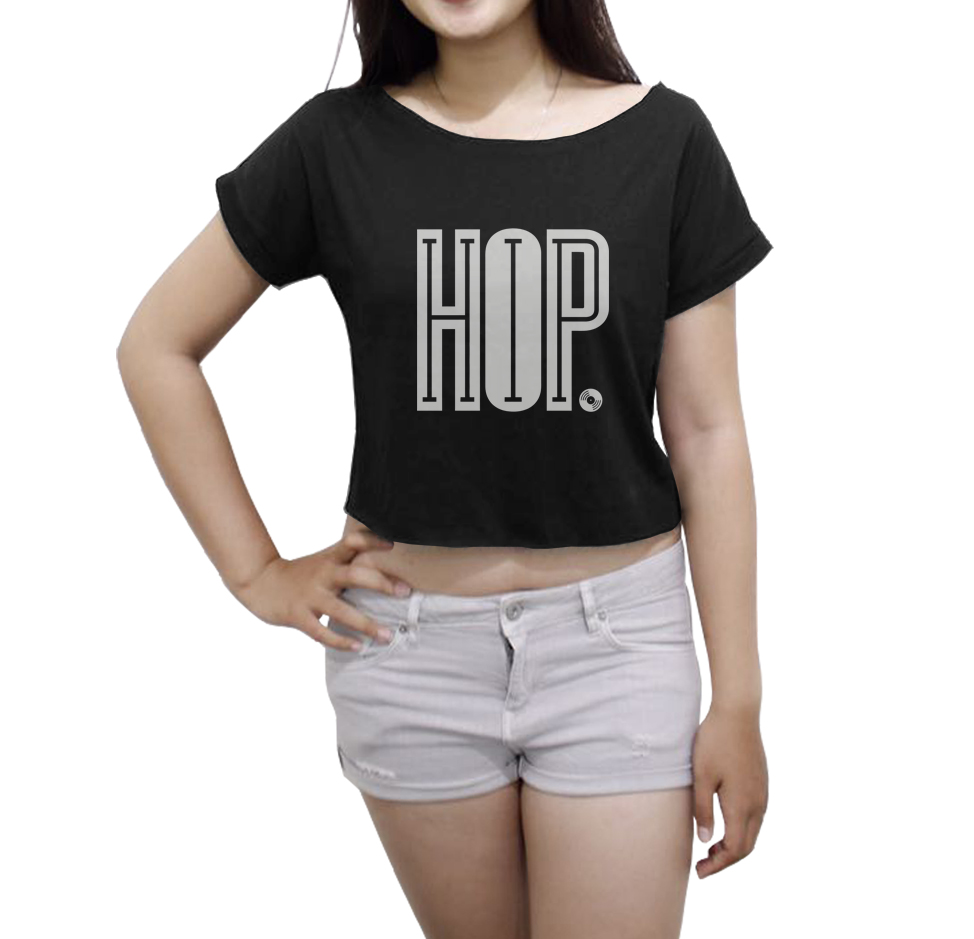 Hip Hop Shirt Women Crop Top Music Shirt