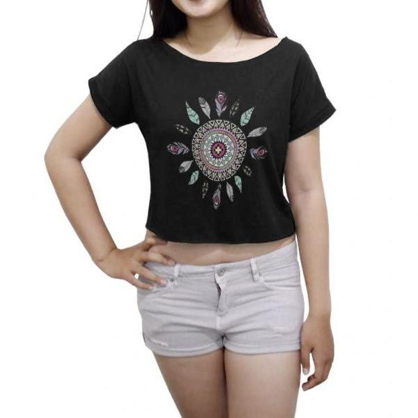 Dreamcatcher Shirt Dream Catcher Tee Women's Crop Tops