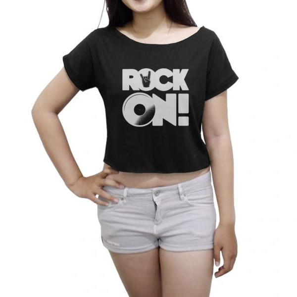 Rock On Shirt Rock Metal Women's Crop Tee Metal Rock On